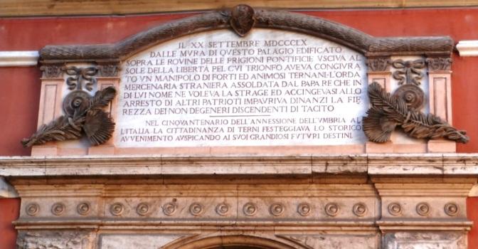 1860 a Terni, chi combatte e chi festeggia