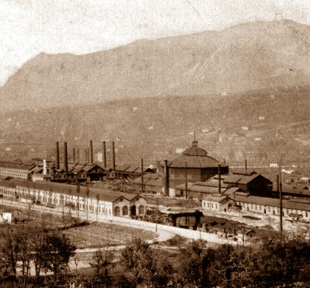 Terni stabilimento siderurgico anno 1900