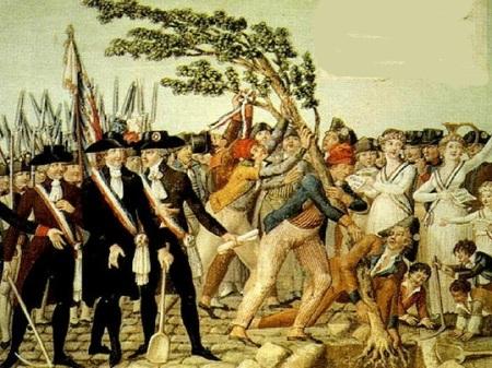 L'albero della libertà simbolo della repubblica gacobina