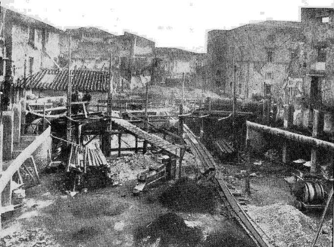 Terni - Il teatro Verdi bombardato