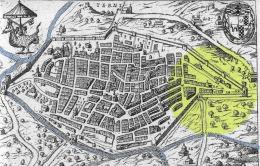 La zona di Porta Spoletina nella pianta del Lauro 1637