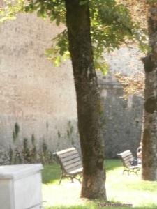Norcia, i giardini lungo le mura