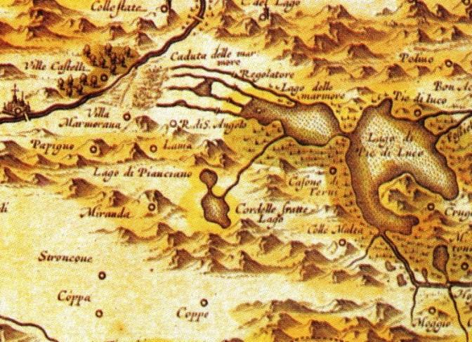 1558, il Comune di Terni vende mezza Marmore per 50 ducati