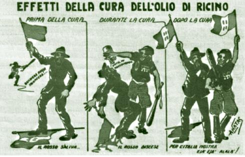 fascisti olio ricino